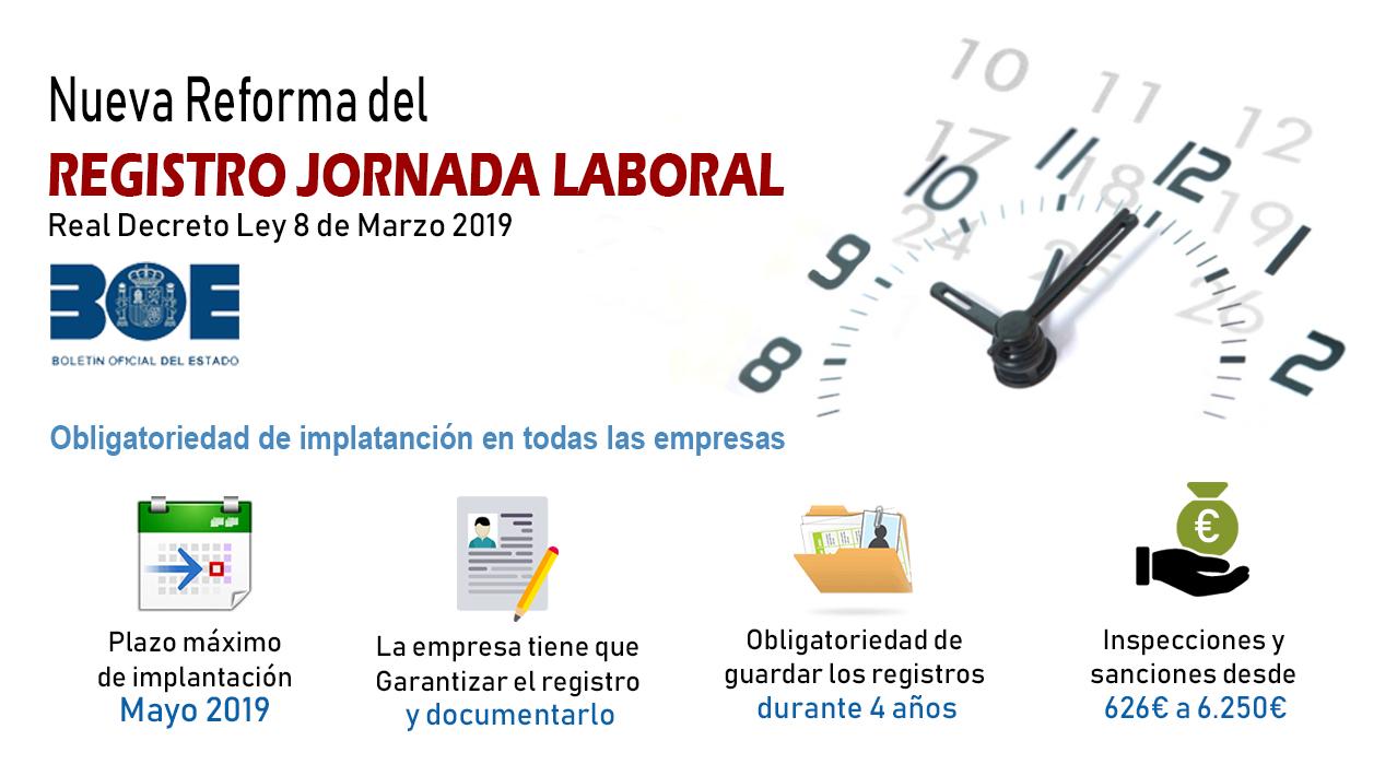 Registro jornada laboral trabajador